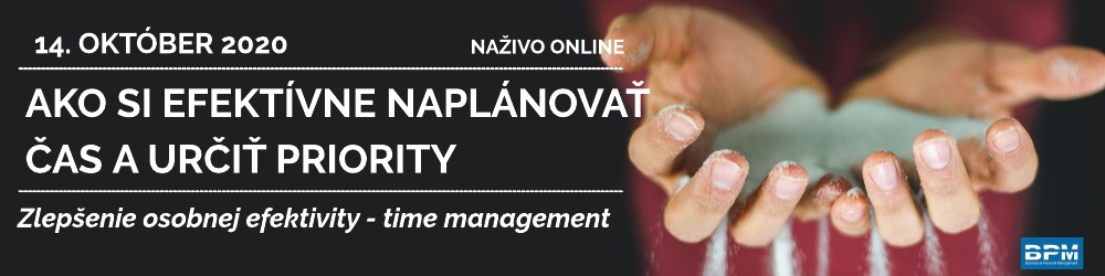 Time management, online 14. 10. 2020
