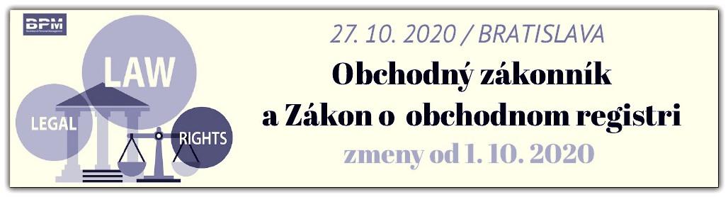 Obch. zak. a OR 27.10.2020